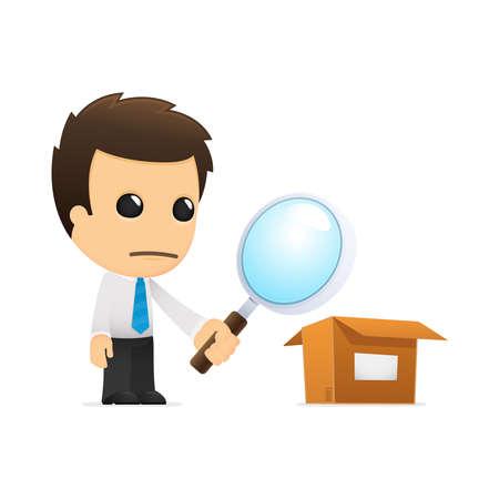 funny cartoon office worker Stock Vector - 12853392