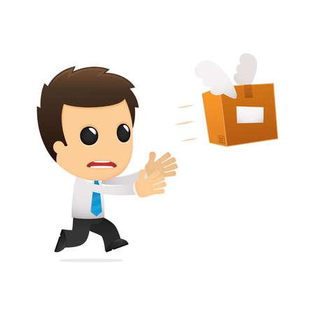 funny cartoon office worker Stock Vector - 12853372