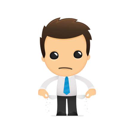 empleado de oficina: divertida caricatura de empleado de oficina
