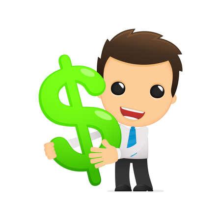 bank manager: oficinista divertido de la historieta