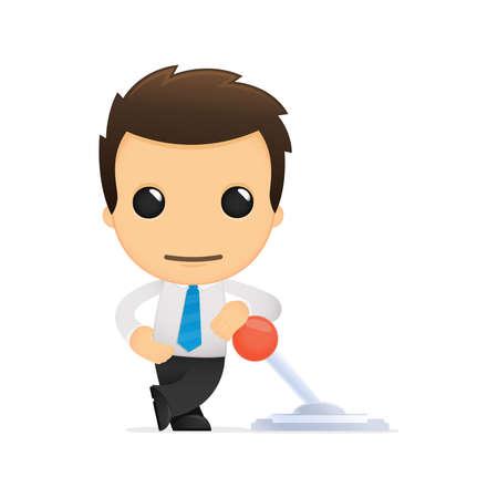 funny cartoon office worker Stock Vector - 12853555