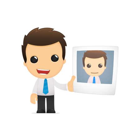 funny cartoon office worker Stock Vector - 12853609