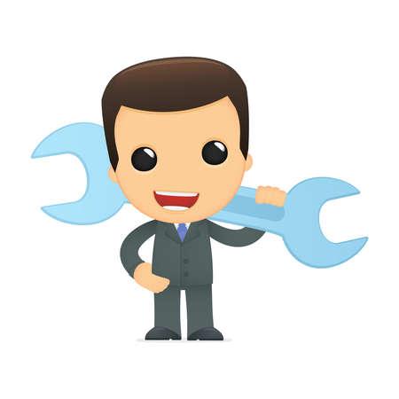 funny cartoon boss Stock Vector - 12990435