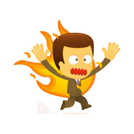 funny cartoon boss Stock Vector - 12990530