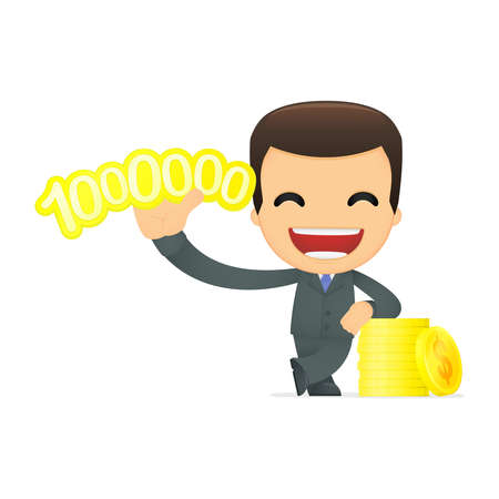 funny cartoon boss Stock Vector - 12991245