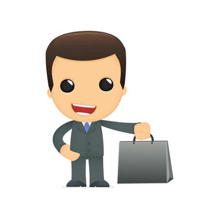administrador de empresas: jefe de divertidos dibujos animados