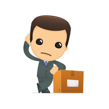 funny cartoon boss Stock Vector - 12990466