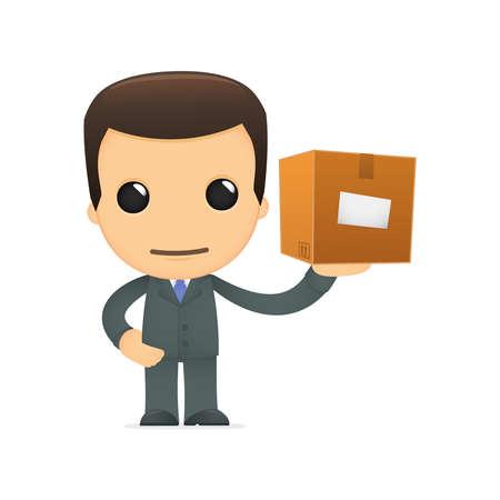 depository: funny cartoon boss Illustration