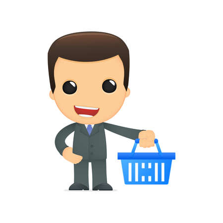 purchasing manager: funny cartoon boss Illustration