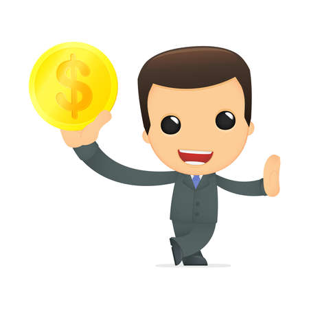 funny cartoon boss Stock Vector - 12991037