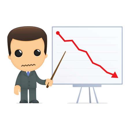 loser: funny cartoon boss Illustration