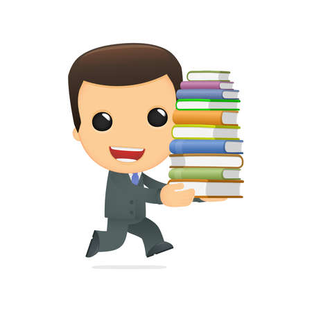 literary characters: funny cartoon boss Illustration