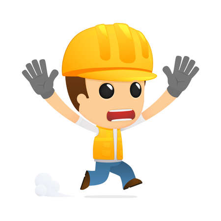 funny cartoon builder Stock Vector - 13312212
