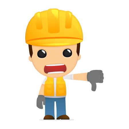 thumb down: funny cartoon builder Illustration