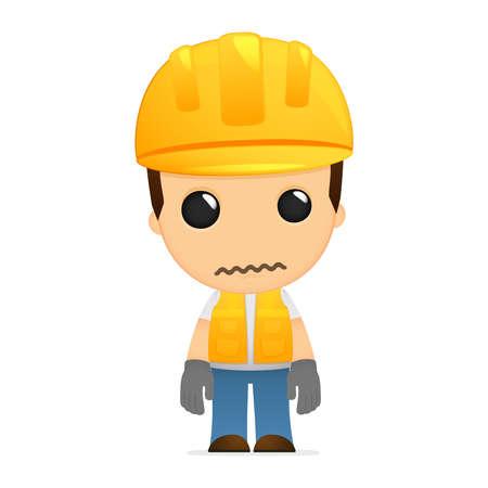 funny cartoon builder Illustration