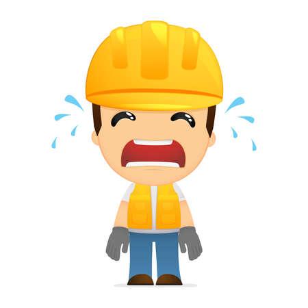 distraught: funny cartoon builder Illustration