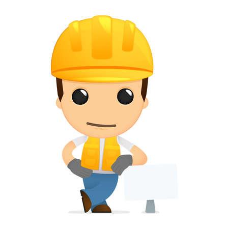 funny cartoon builder Stock Vector - 13312155