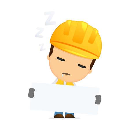 funny cartoon builder Stock Vector - 13312026