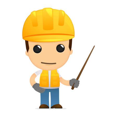 instructor: funny cartoon builder Illustration