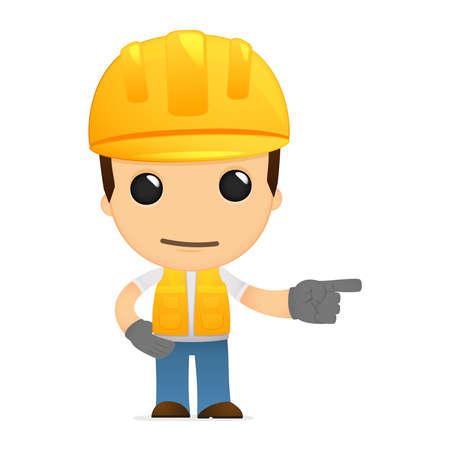 funny cartoon builder Stock Vector - 13312046
