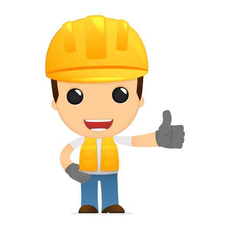 ingeniero: constructor de divertidos dibujos animados Vectores
