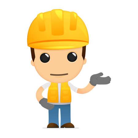 funny cartoon builder Stock Vector - 13312044