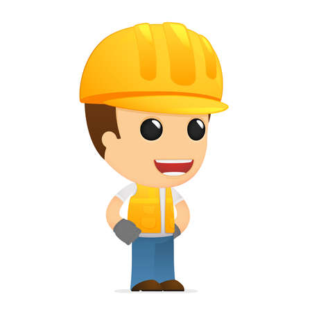 funny cartoon builder Stock Vector - 13312071