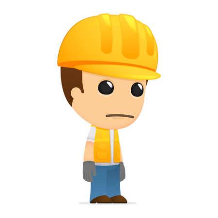 funny cartoon builder Stock Vector - 13311982