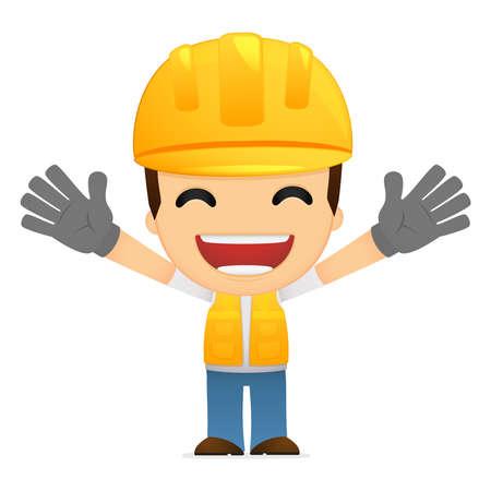 funny man: funny cartoon builder Illustration