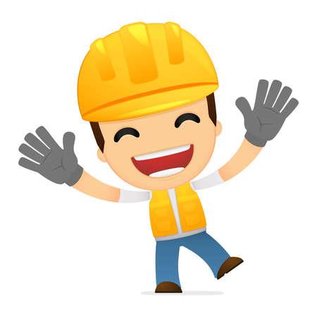 funny cartoon builder Stock Vector - 13312036