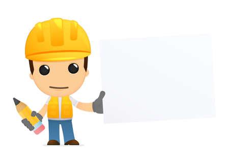 drawing safety: funny cartoon builder Illustration