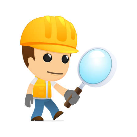 magnifier: funny cartoon builder Illustration