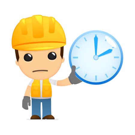 timepiece: funny cartoon builder Illustration