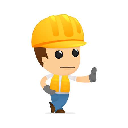 workmen: funny cartoon builder Illustration