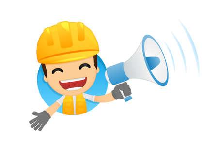 funny cartoon builder Stock Vector - 13312252