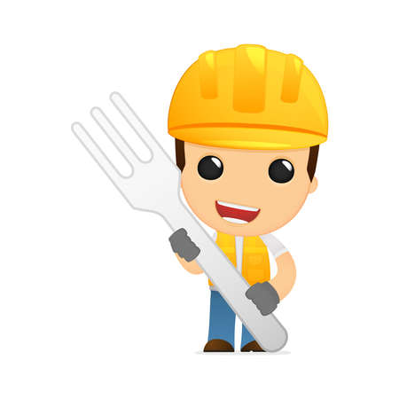 funny cartoon builder Stock Vector - 13312230
