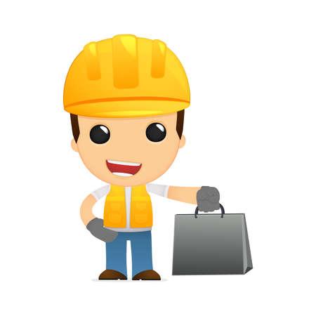 funny cartoon builder Stock Vector - 13312438