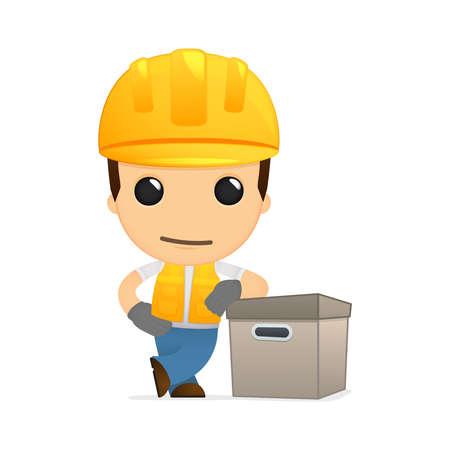 depository: funny cartoon builder Illustration