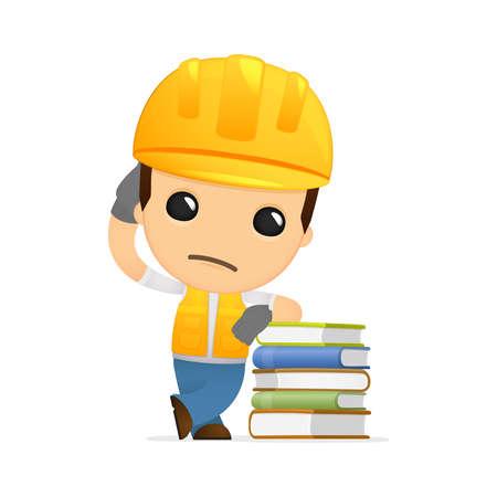 data dictionary: funny cartoon builder Illustration