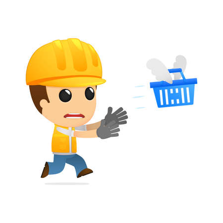 funny cartoon builder Stock Vector - 13312619