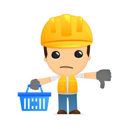 funny cartoon builder Stock Vector - 13312554