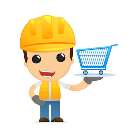 funny cartoon builder Stock Vector - 13312639