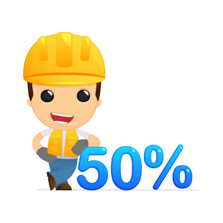funny cartoon builder Stock Vector - 13312600