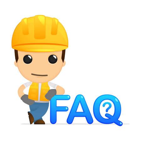 faq: funny cartoon builder Illustration