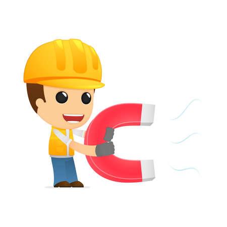 constructor de divertidos dibujos animados Ilustración de vector