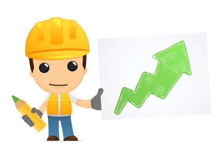 funny cartoon builder Stock Vector - 13312717