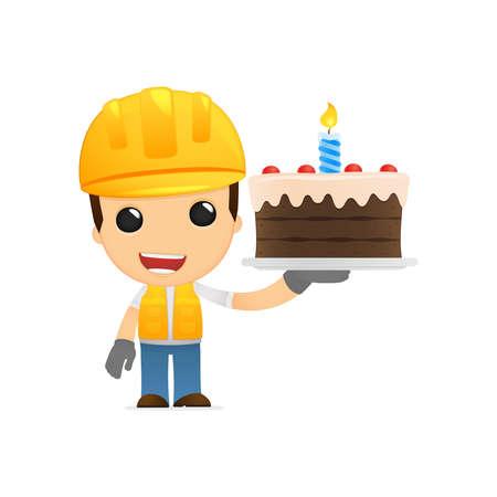 funny cartoon builder Stock Vector - 13312710