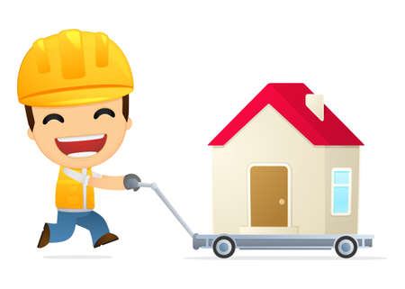 funny cartoon builder Stock Vector - 13312671