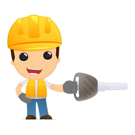 funny cartoon builder Stock Vector - 13312630