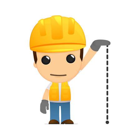 small size: constructor de divertidos dibujos animados Vectores